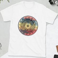 Load image into Gallery viewer, Warm Classic Lotus Mandala Unisex Cotton Tee