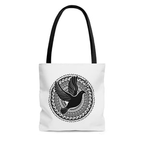 Flying Dove Mandala Tote Bag