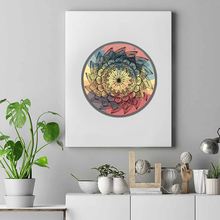 Load image into Gallery viewer, Warm Classic Lotus Mandala Premium Matte Vertical Posters