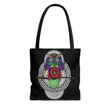 Load image into Gallery viewer, Psychedelic Owl Mandala Tote Bag