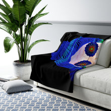 Load image into Gallery viewer, Trippy being a Hippie Psychedelic Girl Coconut Mandala Sherpa Fleece Blanket