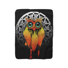Load image into Gallery viewer, Owl Dream Catcher Mandala Sherpa Fleece Blanket