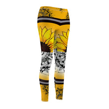 Load image into Gallery viewer, Sunflower Floral Asthetic Mandala Leggings