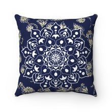 Load image into Gallery viewer, Floral Print Mandala Polyester Square Pillow