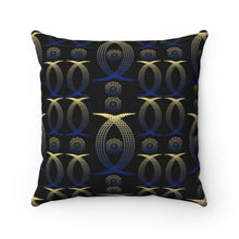 Load image into Gallery viewer, Gold And Blue Anime Girl Mandala Polyester Square Pillow