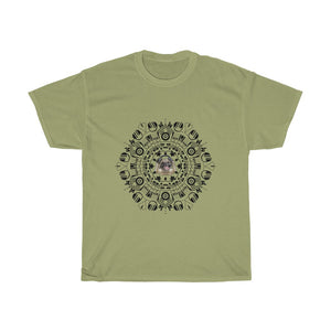 Pug Enjoys Music Mandala Unisex Cotton Tee