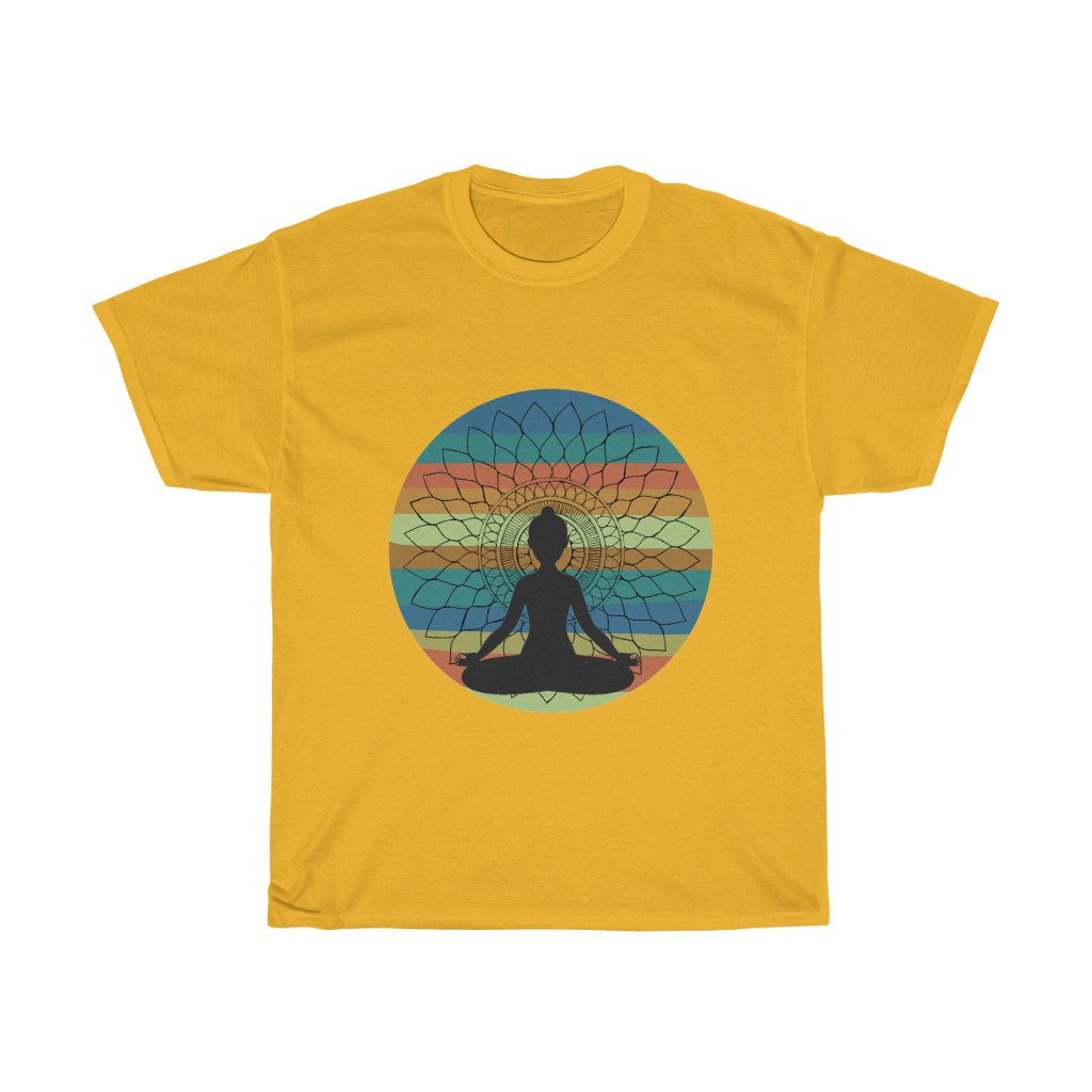 Meditation Mandala Unisex Cotton Tee