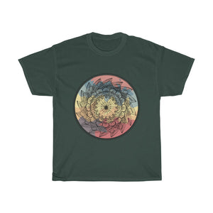 Warm Classic Lotus Mandala Unisex Cotton Tee