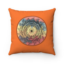 Load image into Gallery viewer, Warm Classic Lotus Mandala Polyester Square Pillow
