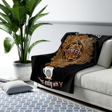 Load image into Gallery viewer, I Only Need Coffee Mandala Sherpa Fleece Blanket