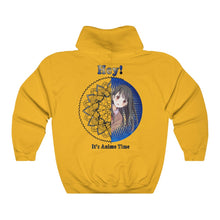 Load image into Gallery viewer, Blue And Golden Anime Girl Mandala Unisex Hooded Sweatshirt