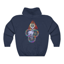 Load image into Gallery viewer, Psychedelic Deer Antlers Mandala Unisex Hooded Sweatshirt