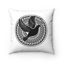 Load image into Gallery viewer, Dove Mandala Polyester Square Pillow