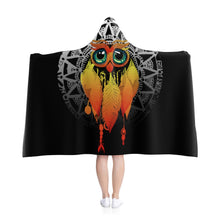 Load image into Gallery viewer, Owl Dream Catcher Mandala Hooded Blanket