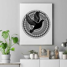 Load image into Gallery viewer, Dove Mandala Premium Matte Vertical Posters