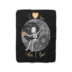 Love You To The Moon And Back Mandala Sherpa Fleece Blanket