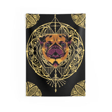 Load image into Gallery viewer, Golden Pug Mandala Wall Tapestries