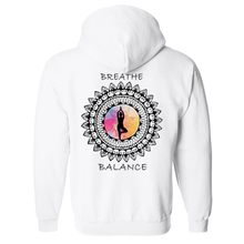 Load image into Gallery viewer, Breathe And Balance Mandala Unisex Hooded Sweatshirt