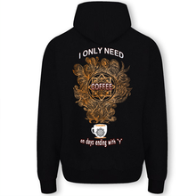 Load image into Gallery viewer, I Only Need Coffee Mandala Unisex Hooded Sweatshirt
