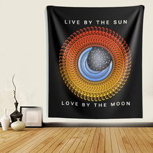Load image into Gallery viewer, Live Love Sun & Moon Mandala Wall Tapestries