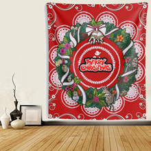 Load image into Gallery viewer, Merry Christmas Bouquet Mandala Wall Tapestries