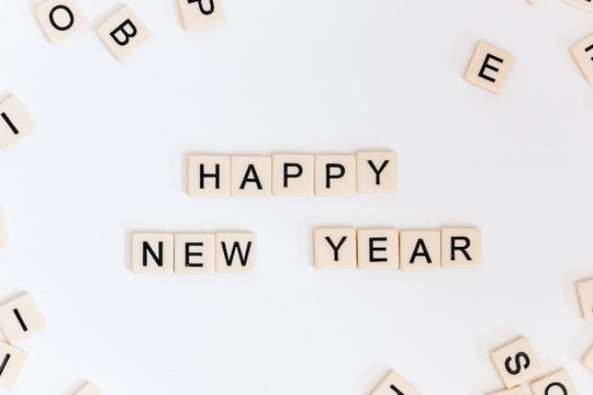 happy new year with letters