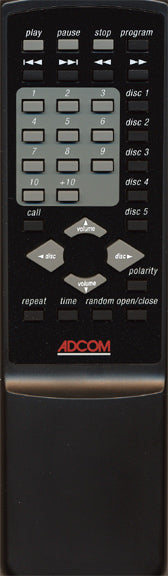 ADCOM GCD-575, 600 and 700 Remote Control