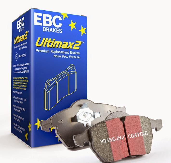 UD1413 EBC Disc Brake Pad Set Front 4Cyl 2.0L 2010-14 Hyundai Genesis Coupe