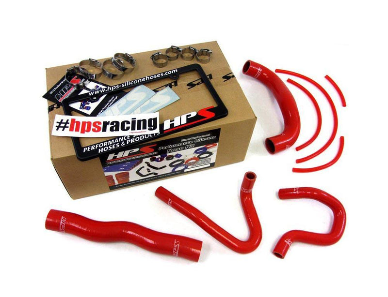57-1324-RED HPS Radiator And Heater Hose Kit Coolant 4Cyl 2.0L 2013-14 Hyundai Genesis Coupe