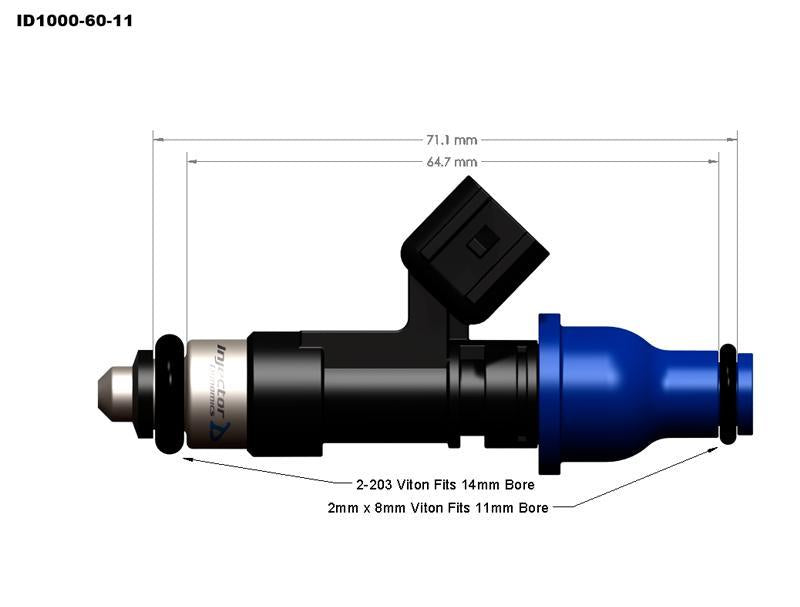 1050.34.14.14.6 Injector Dynamics Fuel Injector Set 2010-17 Hyundai Genesis Coupe