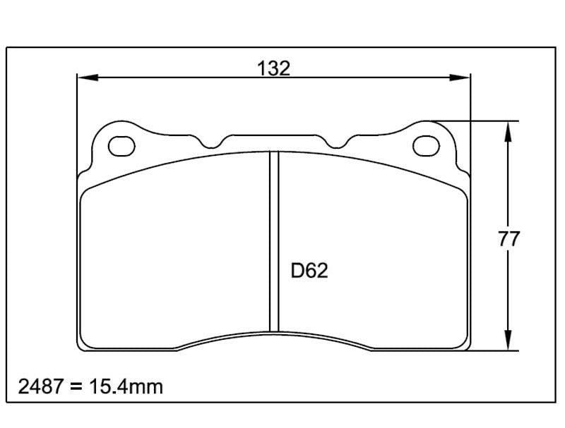 PAG-1587-RS421 Pagid Brake Pad Rear 2010-13 Hyundai Genesis Coupe