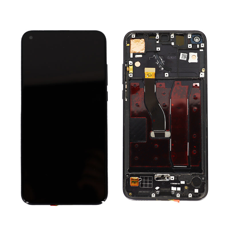 Huawei Honor V20 Replacement LCD Touch Screen Frame in Black