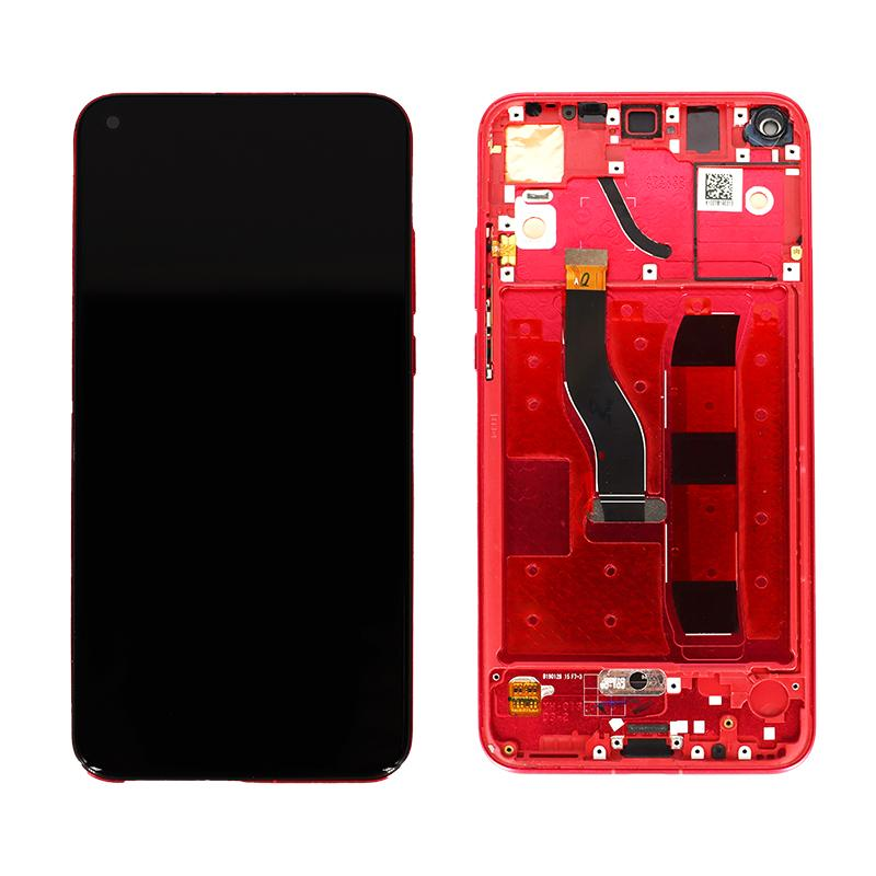 Huawei Honor V20 Replacement LCD Touch Screen Frame in Red