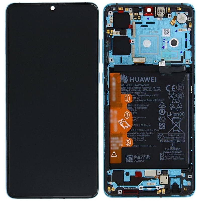 Replacement Lcd Screen for Huawei P30 Aurora Blue