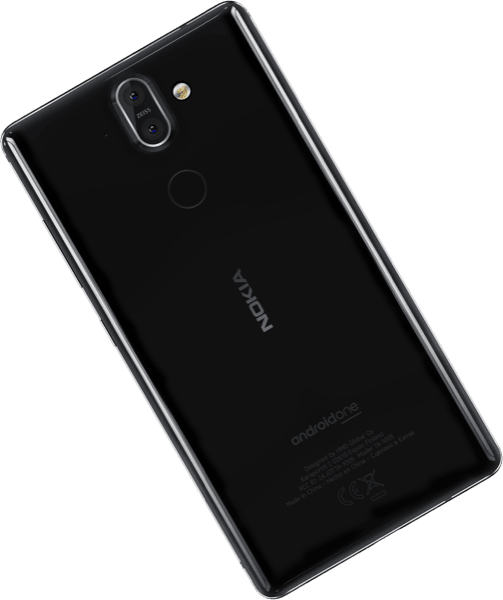 Nokia 8 Sirocco Replacement Rear Glass Panel / Back Cover with Adhesive