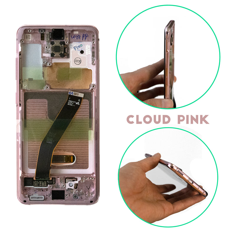 Samsung Galaxy S20 Replacement LCD Screen with Frame in Cloud Pink