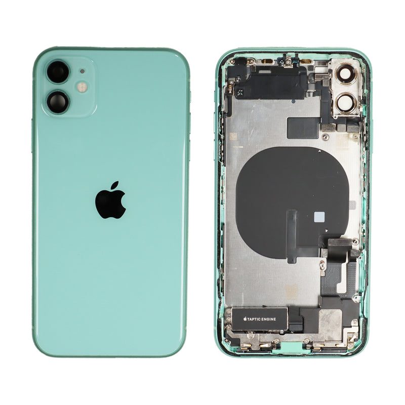 iPhone 11 Rear Glass Housing and Frame Assembly in Green