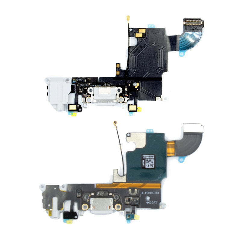 For iPhone 6S Replacement Charger Port Flex Cable and AUX Headphone Jack Module in Silver