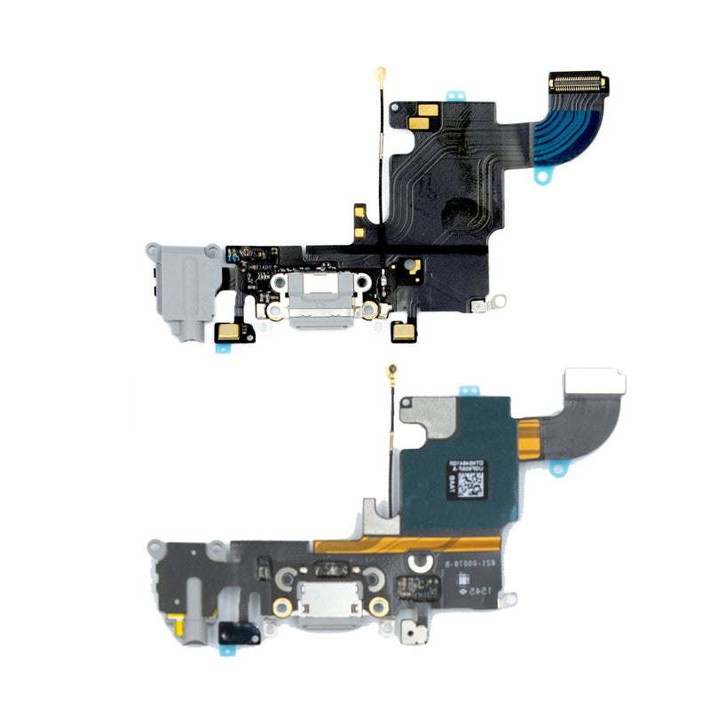 For iPhone 6S Replacement Charger Port Flex Cable and AUX Headphone Jack Module in Space Grey