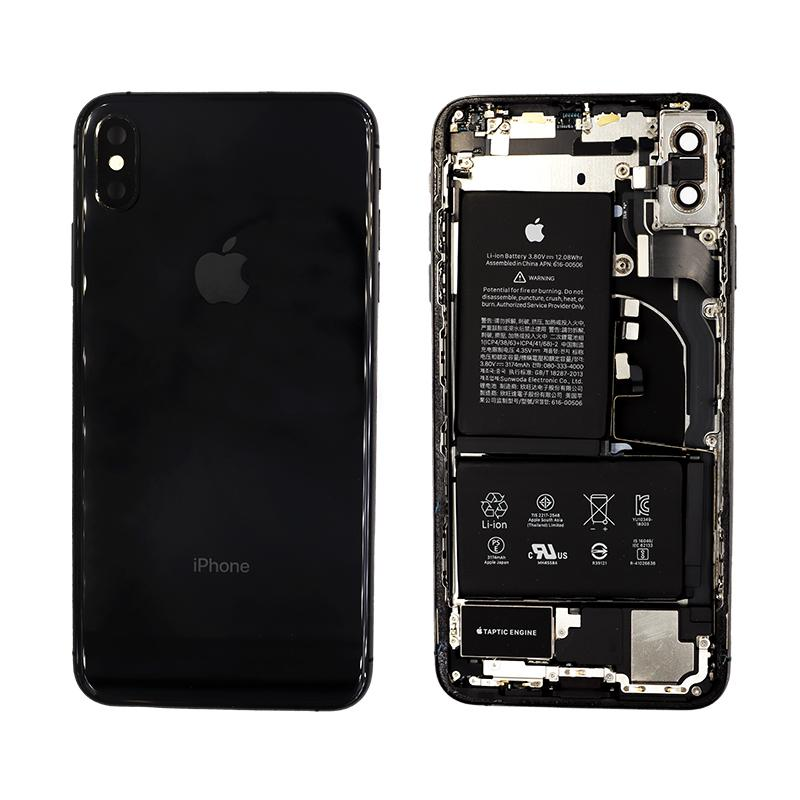 Black iPhone XS Max Rear Glass Frame Replacement