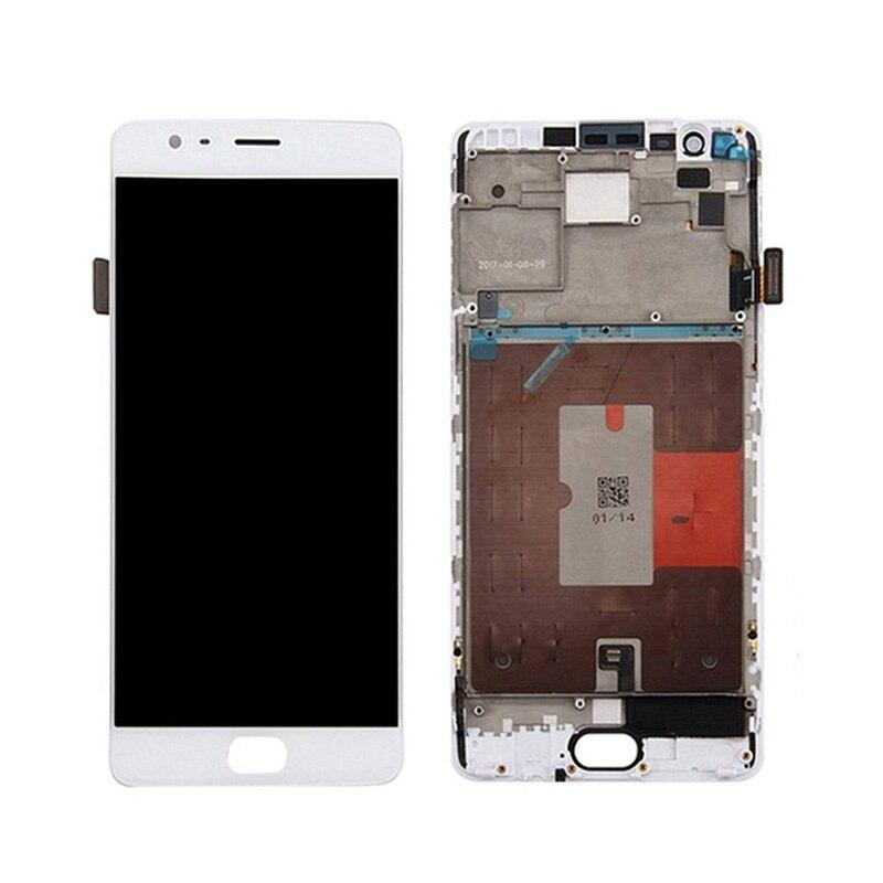 OnePlus 3T Replacement Screen with Frame in White