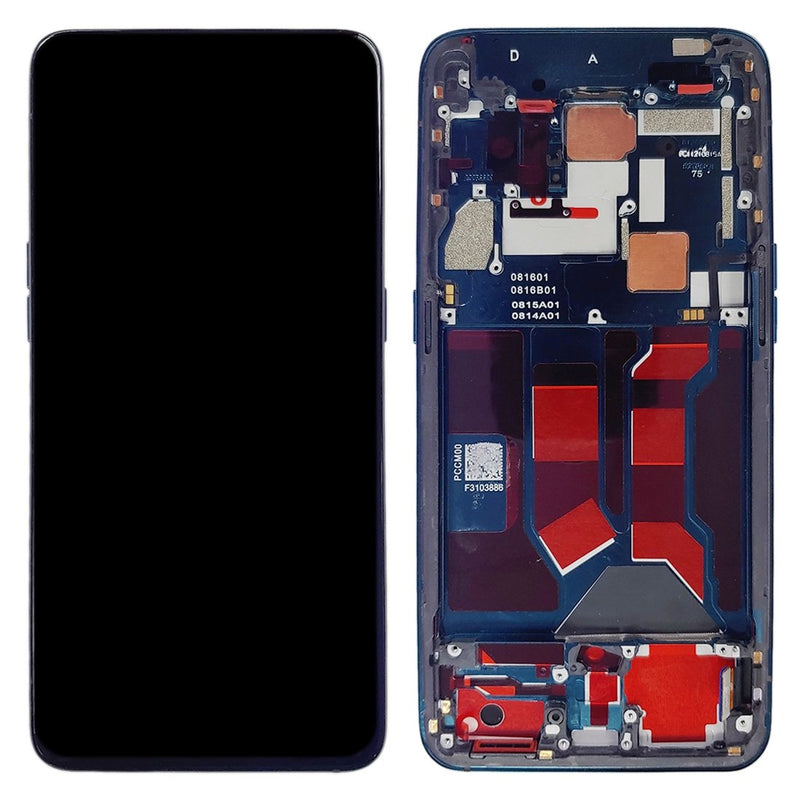 Oppo Reno 10x Zoom / 5G Replacement LCD Screen with Frame in Blue