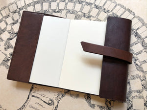Leather notebook -Brown  / 革のカバーノート (ブラウン)