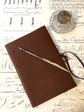 Charger l'image dans la galerie, Leather soft cover notebook -Brown  / 革のソフトカバーノート (ブラウン)