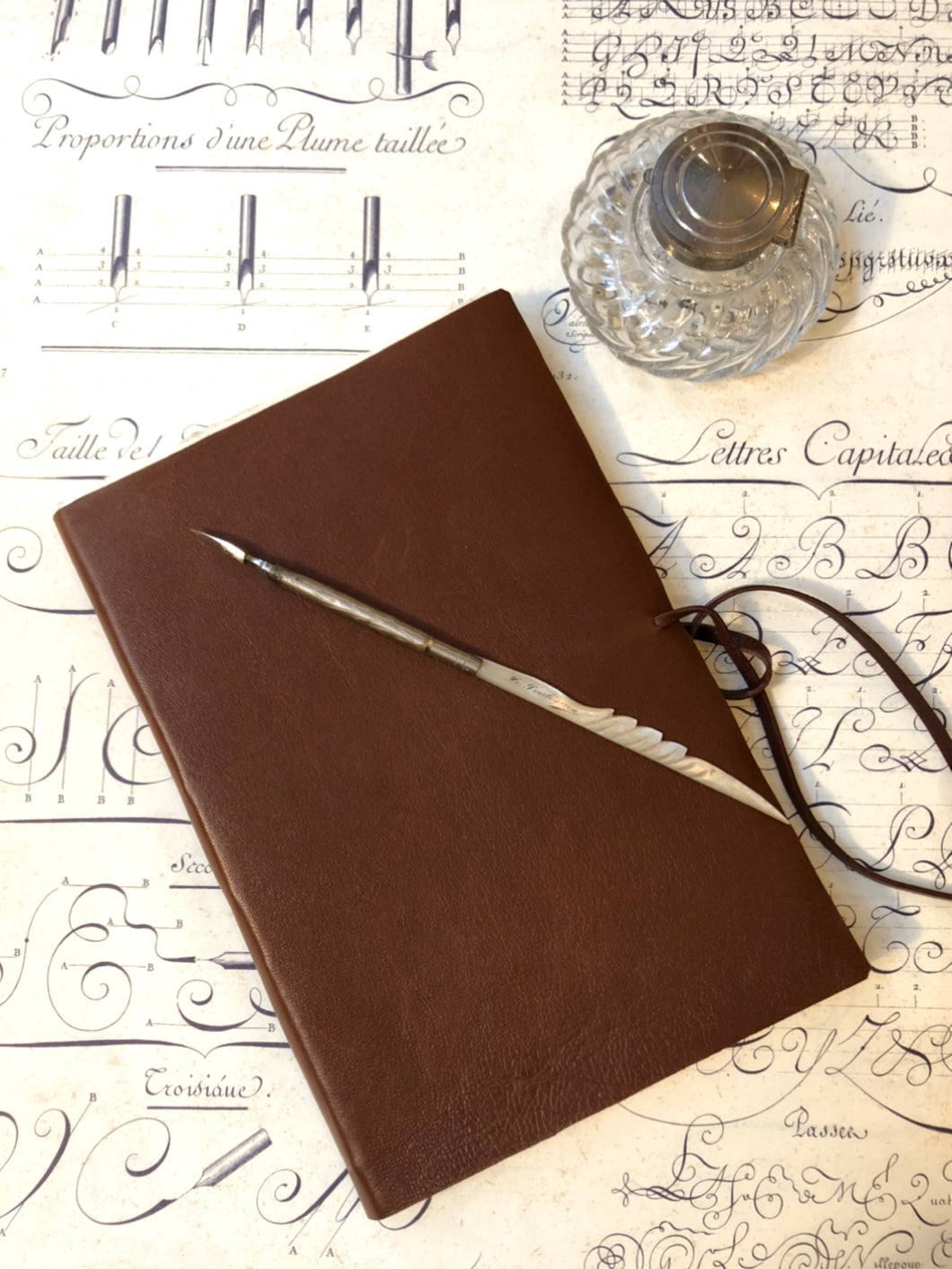 Leather soft cover notebook -Brown  / 革のソフトカバーノート (ブラウン)
