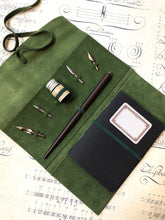 Charger l'image dans la galerie, Calligraphy set with leather cover / カリグラフィーセット レザーカバー