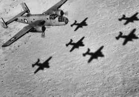 War planes in flight