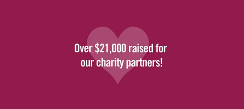 More than $21,000 Raised for our Charity Partners in 2017!