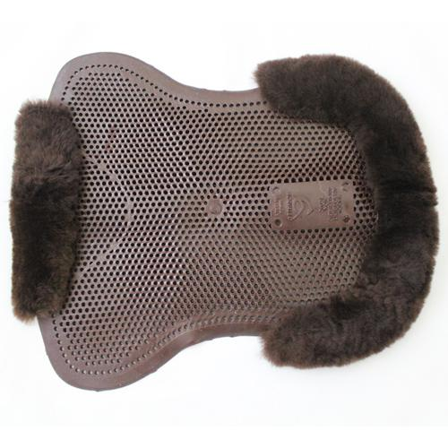 ACAVALLO PONY GEL PAD WITH SHEEPSKIN