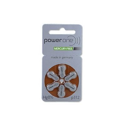 PowerOne MF Batteries Size 312 - Pack of 8